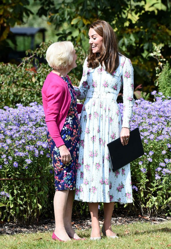 Mary Berry and Kate at the RHS gardens Image PA