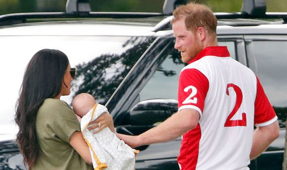 Meghan Markle and Prince Harry with baby Archie Image Getty