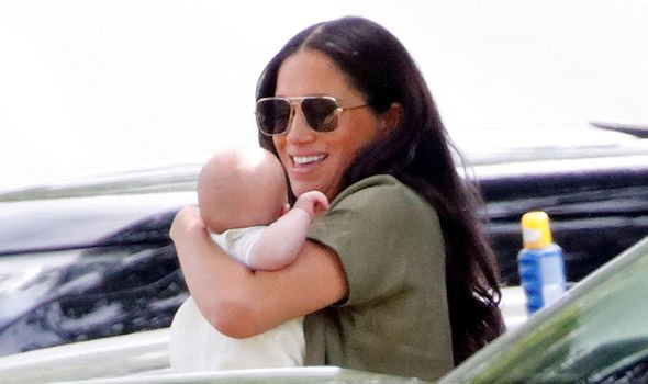 Meghan Markle and her newborn baby Archie Image GETTY