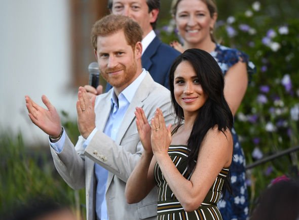 Meghan and Harry pictured in South Africa Image GETTY