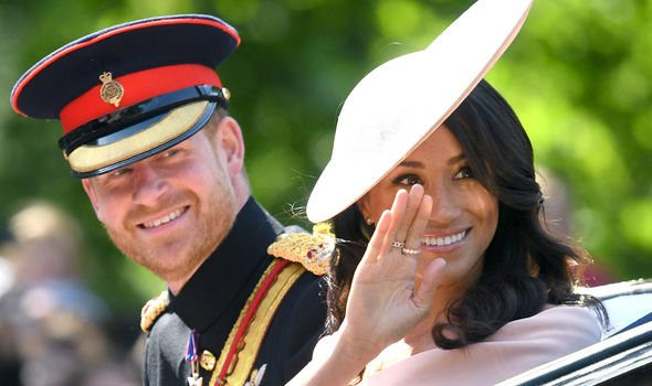 Meghan and Harry tied the knot in May Image GETTY