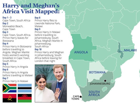 Meghan and Harrys trip to Africa Image Express