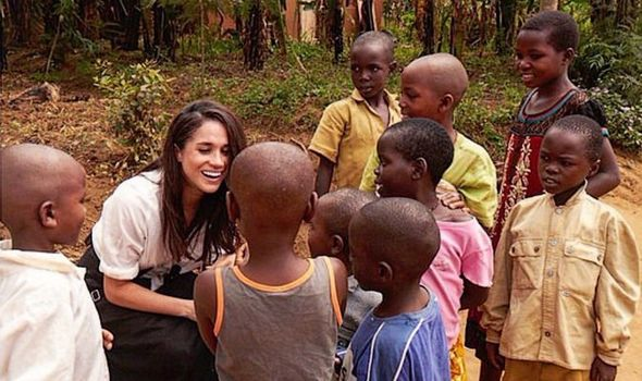 Meghan on an earlier visit to Rwanda Image Instagram