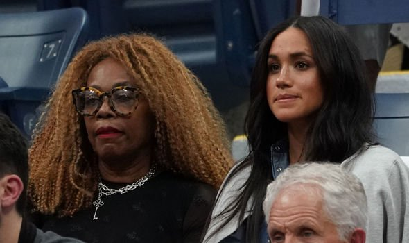 Meghan watched the game alongside Ms Williams mother Oracene Price Image AFP GETTY