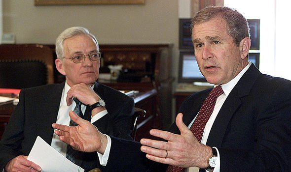 Paul ONeill and President Bush Image GETTY