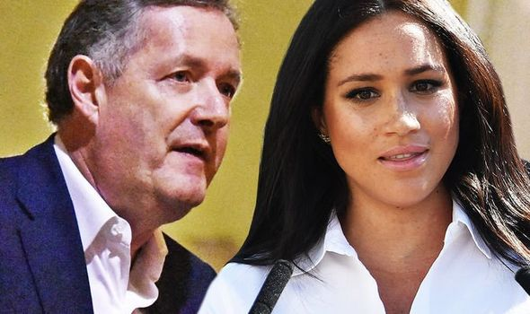 Piers hit out at Meghan over her apparent hypocrisy Image GETTY