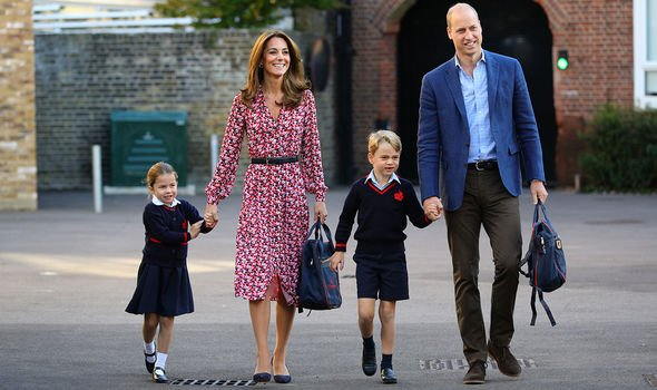 Prince George is staring his second year at Thomass Battersea school today Image PA