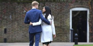 Prince Harry and Meghan Markle after announcing their engagement Image Steve Back Getty Images