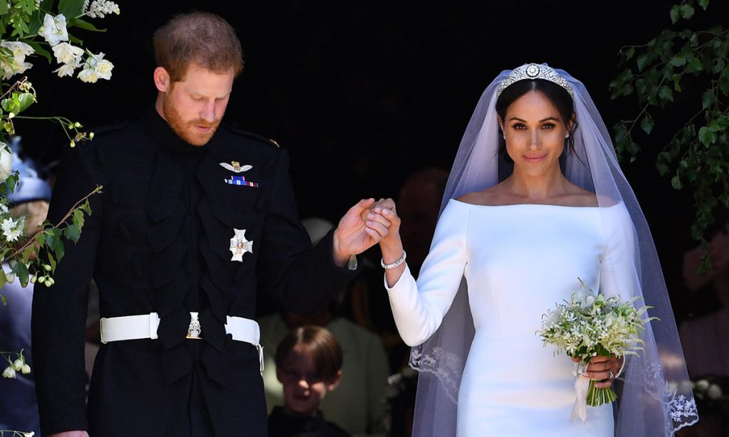 Prince Harry and Meghan Markle send gorgeous wedding photo after receiving well wishes on first anniversary Photo C GETTY IMAGES