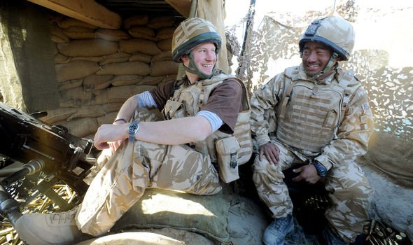 Prince Harry pictured serving in Afghanistan Image Getty