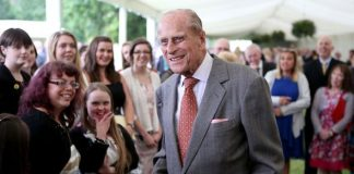 Prince Philip awarding Gold Awards in Image Getty