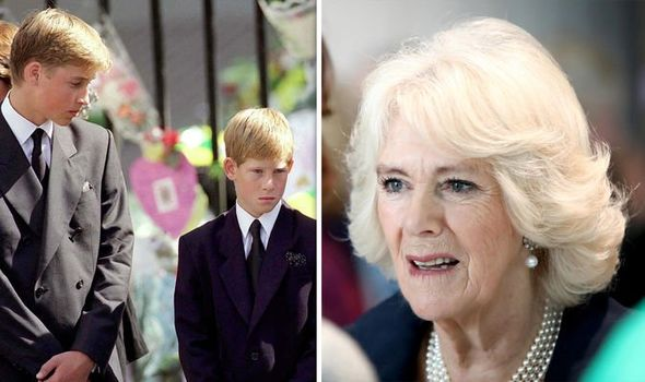 Prince William Prince Harry and Camilla Duchess of Cornwall Image GETTY