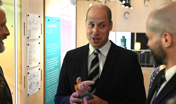 Prince William appeared perturbed when received the Clangers toy according to Myers Image GETTY