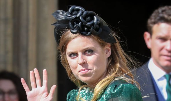 Princess Beatrice at the wedding of Ellie Goulding last week Image John Rainford GC Images Getty Images