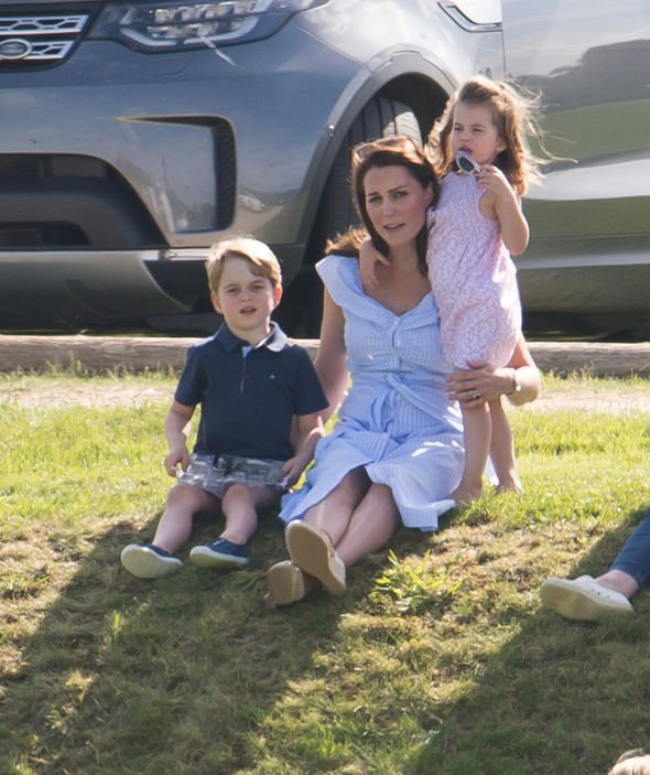 Princess Charlotte and Prince George Charlotte will be taken to her first day of school by Kate and Prince William Image PA