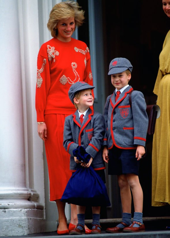 Princess Charlotte and Prince George Mum Princess Diana looked on proudly at her young sons Image GETTY
