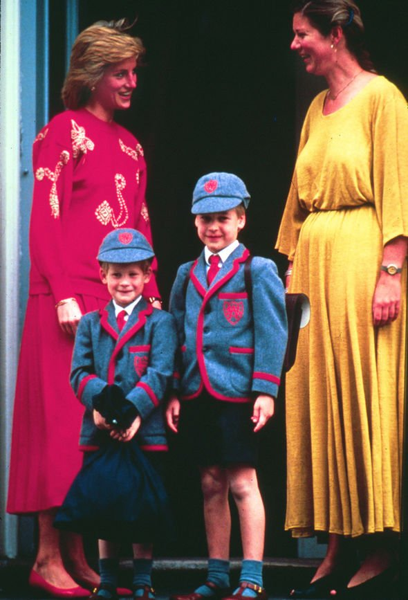 Princess Charlotte and Prince George Prince William and Prince Harry in their Wetherby School uniform Image GETTY
