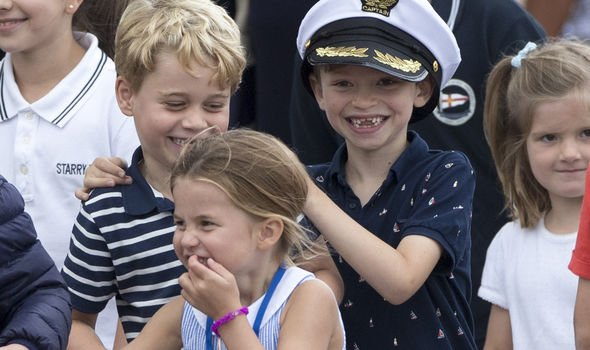 Princess Charlotte and Prince George The young royals have had an exciting summer break Image PA