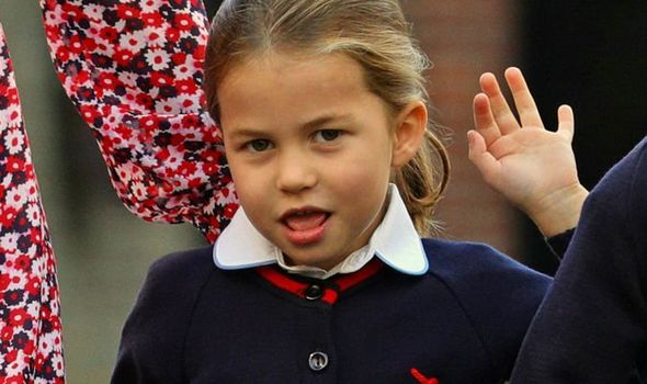 Princess Charlotte attended her first day of school today Image PA