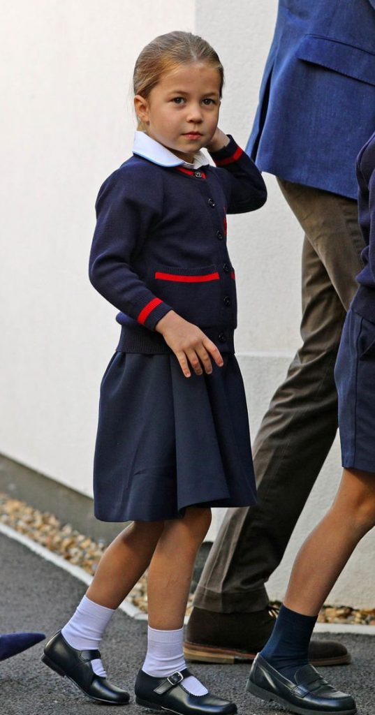 Princess Charlotte has officially become a pupil at the prestigious school today Image REUTERS