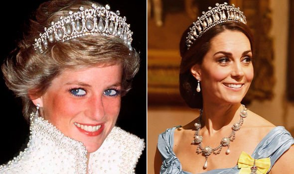 Princess Diana and Kate Middleton in the Queen Marys Lovers Knot Tiara Image Getty Images