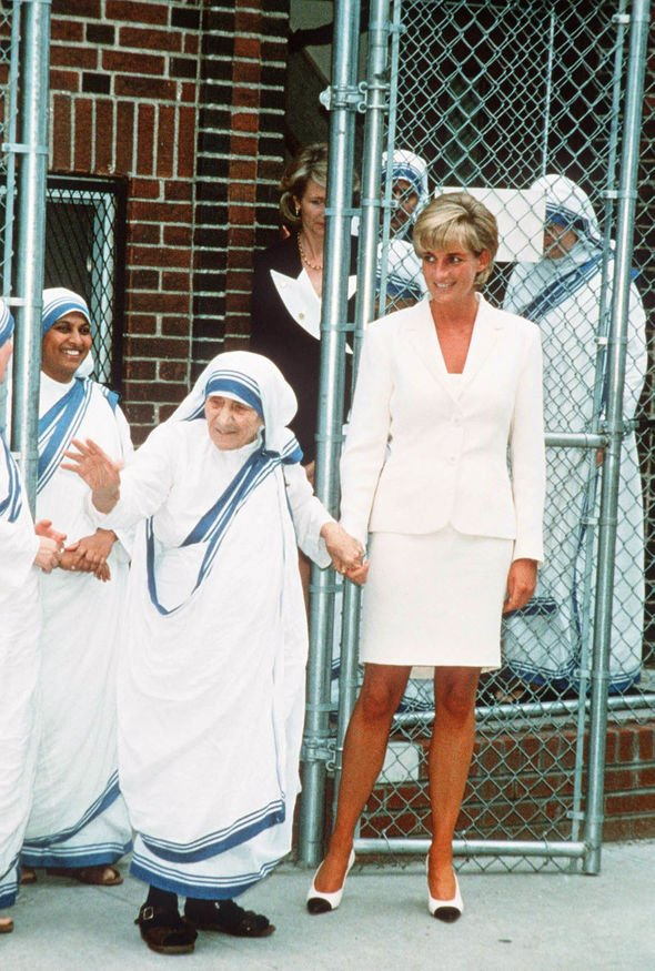 Princess Diana and Mother Teresa in New York in June Image GETTY