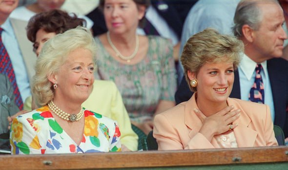 Princess Diana and her mother Frances Image GETTY