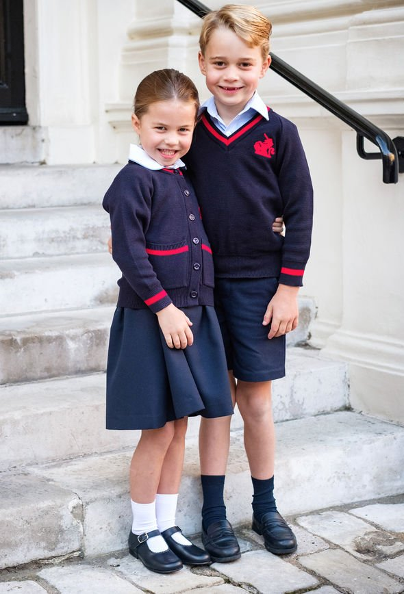 Princess Diana news George and Charlotte started school on Thursday Image PA