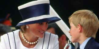 Princess Diana with Prince Harry in Image Getty