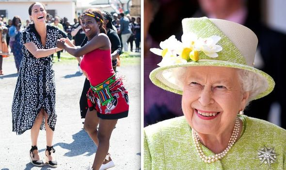 Queen Elizabeth II news Queen 'delighted' by Meghan Markle and Harry's 'brilliantly unorthodox' tou Image GETTY