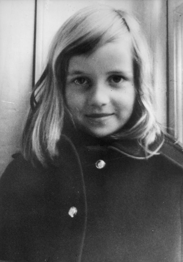 Queen and Princess Diana Diana as a child Image GETTY