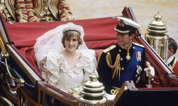 Royal wedding Princess Diana and Prince Charles were all smiles after their wedding Image Getty Images