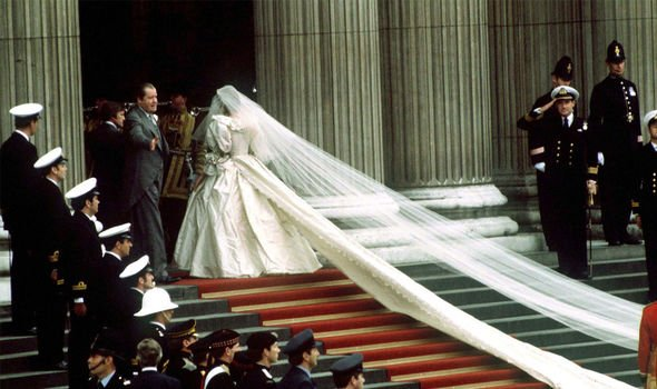 Royal wedding Princess Dianas wedding outfit dazzled the crowds Image Getty Images