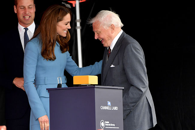 Sir David addressed the crowds Photo C GETTY IMAGES