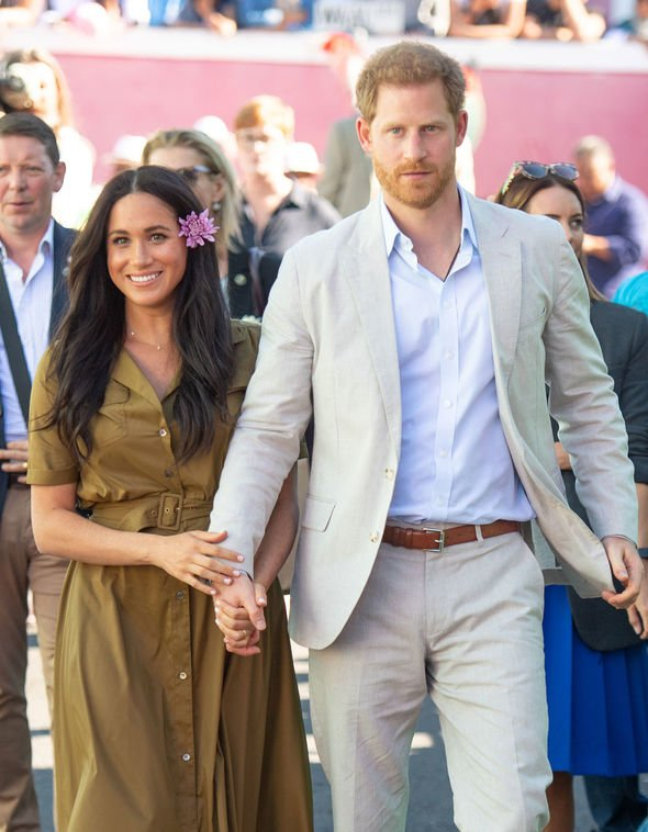 Some royal followers have commented on the timing of the news during Meghan and Harrys Africa tour