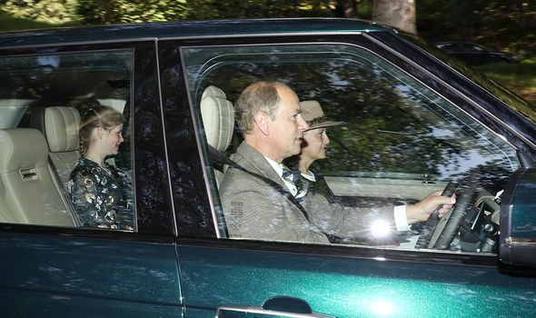 Sophie Wessex Prince Edward and Lady Louise going to church while in Scotland Image PA