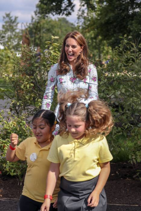 The Duchess of Cambridge was at Wisley Gardens on Tuesday Photo C GETTY IMAGES