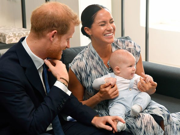 The engagement announcement coincided with the Sussexes' day Africa tour Image GETTY