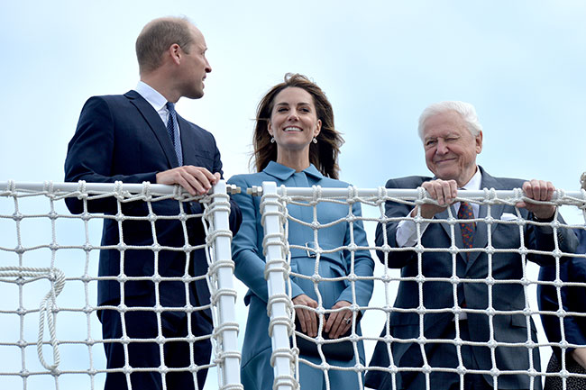 The royal couple were joined by Sir David Attenborough Photo C GETTY IMAGES