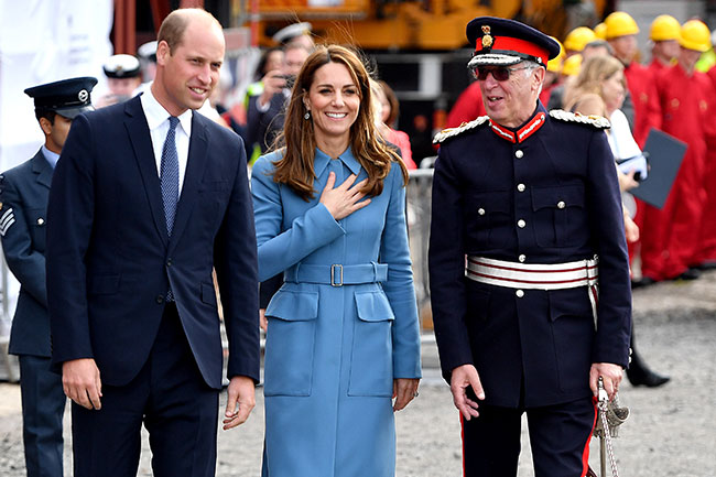 The royals were given a tour of the ship photo C GETTY IMAGES