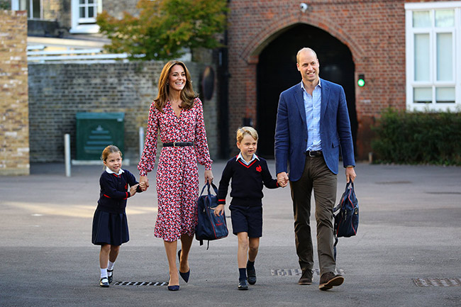 William and Kate did the drop off on Thursday morning Photo C GETTY IMAGES