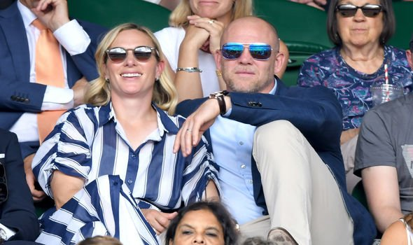 Zara and Mike Tindall at Wimbledon this year Image Karwai Tang Getty Images
