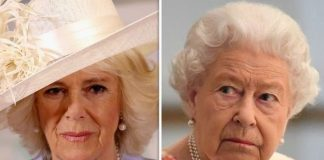 cropped Camilla Duchess of Cornwall and Queen Elizabeth II ImageGETTY