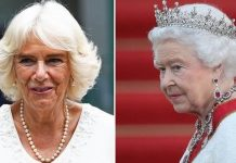 cropped Duchess of Cornwall and the Queen Image GETTY