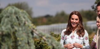 cropped Fall for florals like the Duchess in a midi dress by Emilia Wickstead