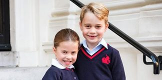 cropped George and Charlotte posed at home Photo C KENSINGTON PALACE TWITTER