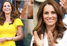 cropped Kate Middleton Recently she has been spotted wearing a citrine ring which she first wore in Image GETTY