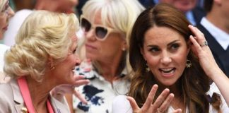 cropped Kate Middleton She wore the jewelled ring when attending Wimbledon this year Image GETTY