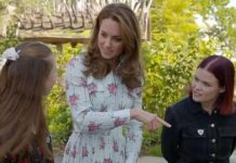cropped Kate Middleton news the Duchess asked if the flowers were clematis Image CBBC