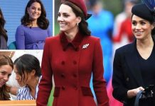 cropped Meghan Markle and Kate Middleton Image GETTY